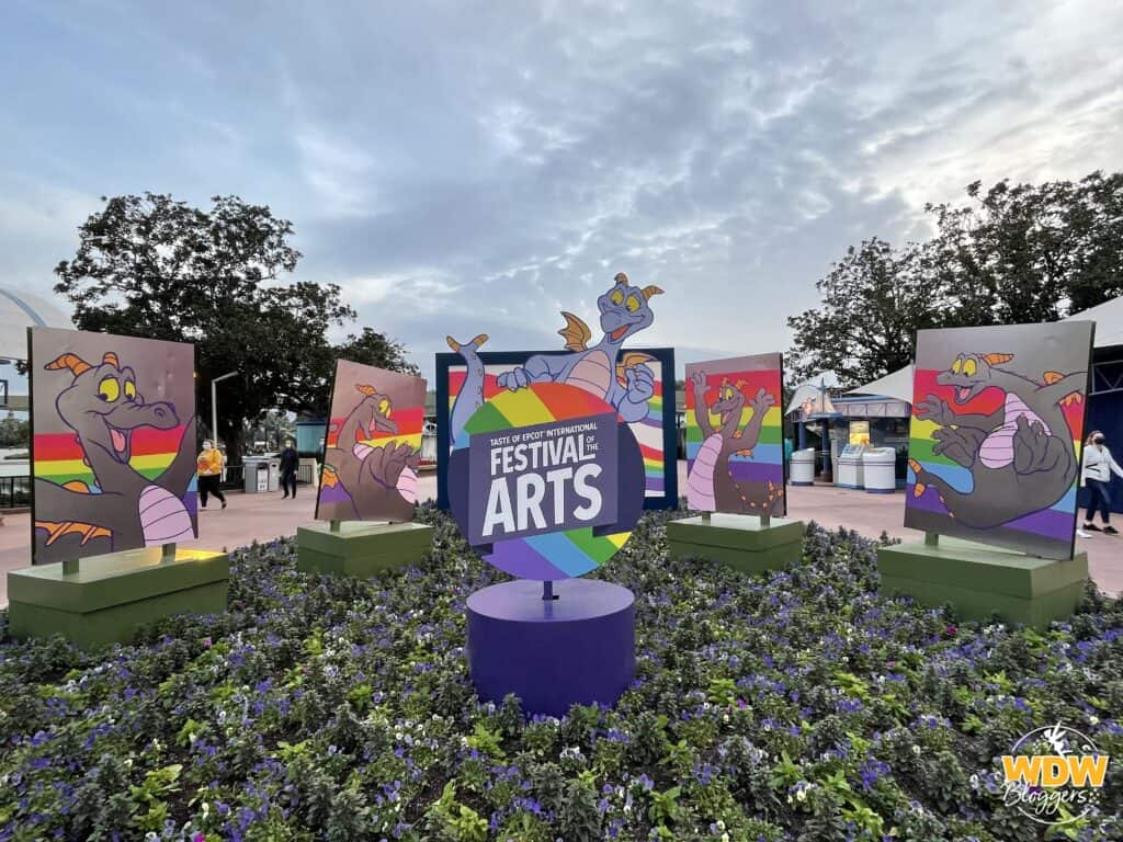 Taste of Epcot International Festival of the Arts 2021 Figment Sign