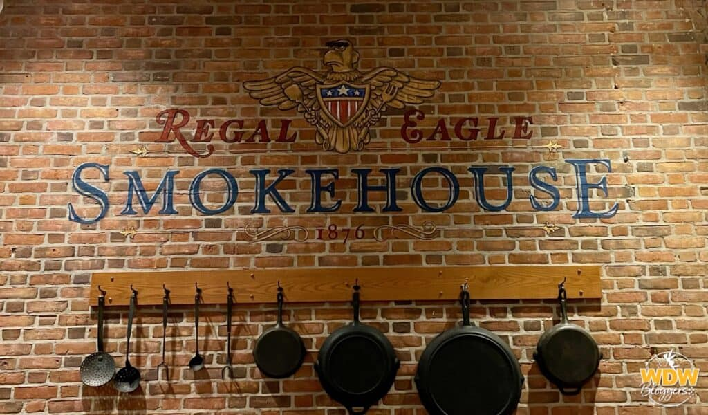 Regal Eagle Smokehouse at Epcot Sign 2