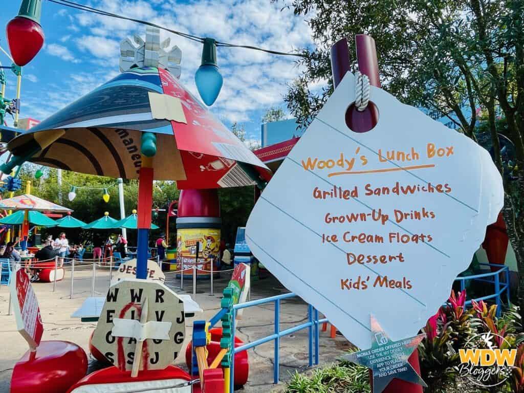 Woody's Lunchbox Menu at Disney's Hollywood Studios