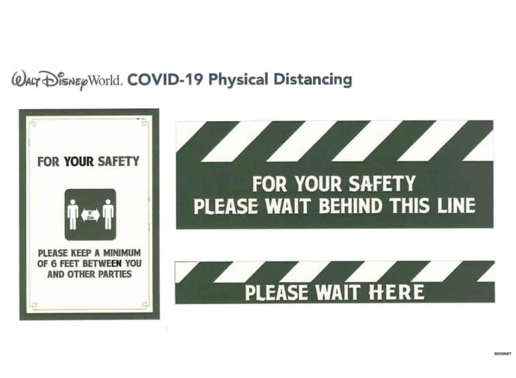 physical-distancing-signs-at-walt-disney-world